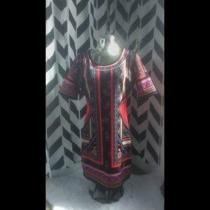 Jealous Tomato Aztec Festival Bodycon Dress XL